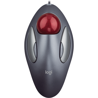 Trackman Marble mouse, view from top
