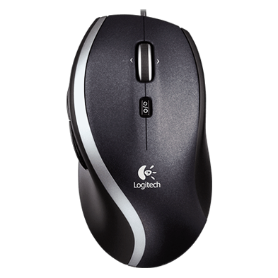 Corded Mouse M500, top view