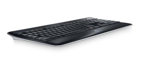 Wireless Illuminated Keyboard K800, right view