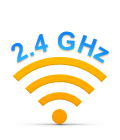 Advanced 2.4 GHz wireless connectivity