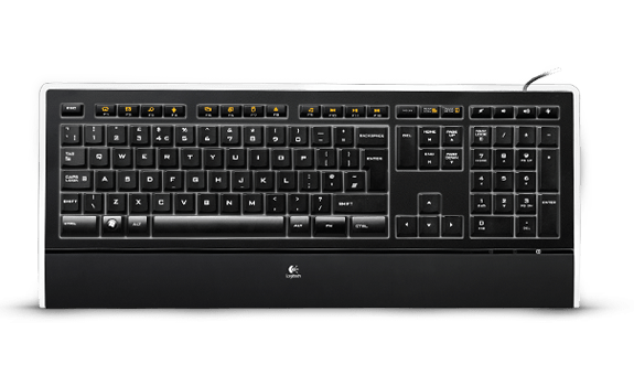 Illuminated Keyboard K740 top