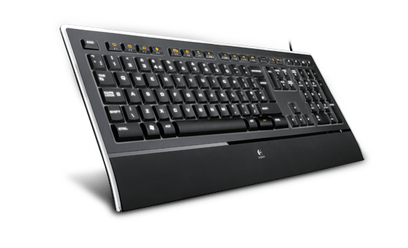 Illuminated Keyboard K740 facing right